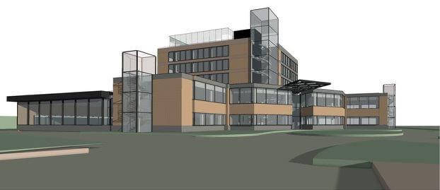 Le bâtiment de l'Institut Rennais de Chirurgie Orthopédique et de Médecine du Sport, à Cesson-Sévigné.